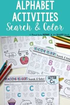 Alphabet activities for small groups by Proud to be Primary. Search and color printable sheets.