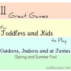 Kids party activities