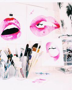 "cupcakekristie: ""the aestate | biting lip watercolor """