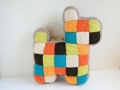 patchwork dog pillow