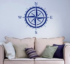 Nautical Compass Rose Bathroom Wall Vinyl Decal Art Sticker Home Modern Stylish Interior Decor for Any Room Smooth and Flat Surfaces Housewares Murals Graphic Bedroom Living Room (2458) stickergraphics http://www.amazon.com/dp/B00ICR4KY0/ref=cm_sw_r_pi_dp_xQtUtb12WB51EGBB