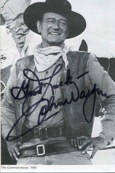 "john wayne   John Wayne autograph authenticate from Kenneth Walker ""Autographs&More ..."