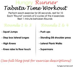 Just posted a new Tabata Workout!! Try it... You. Will. Sweat ;) @Fit Approach @FitFluential LLC