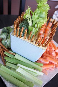 Easter Garden - Veggie and Hummus Tray
