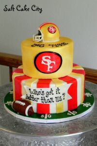 Cool 49ers Fan Football Cake Birthday cakes Cake and Birthdays