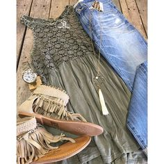 """ NEW ARRIVALS  #CrochetDetailed #Tank $32.99 (S-L) #BigStar #Jeans $128 (25-32) #NaughtyMonkey #Sandals $79.99 #Necklace $19.99 #FossilWatch $185 We #ship! Call to order! 903.322.4316 #shopdcs #goshopdcs #shoplocal #shopspring #love"" Photo taken by @daviscountrystore on Instagram, pinned via the InstaPin iOS App! http://www.instapinapp.com (04/15/2016)"