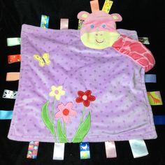 Taggies Baby Girl Peek A Boo Giraffe Security Blanket Purple Pink Lovey  Polka  Taggies Security 72955f471