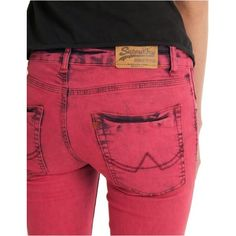 Superdry Powdered Denim Jean in Red  available at [ www.stade.co ]