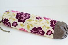 Fabric Grocery Bag Holder / Plastic Bag Holder / Purple by SUZUYA