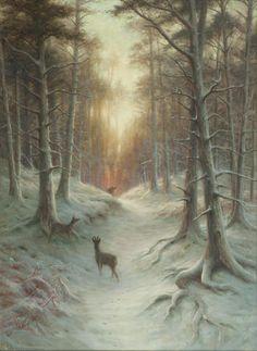 Joseph Farquharson RA (British, 1846-1935) Startled 101.5 x 76 cm. (39 15/16 x 29 15/16 in.)