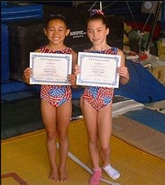 Kyla Ross and McKayla Maroney as kids!