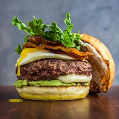 © Dennis PrescottBurger Love: burger is stuffed with a molten cheese surprise. Recipe: The Juicy Lucy Breakfast Burger Bacon Recipes, Burger Recipes, Wine Recipes, Burger Dogs, Good Burger, Tasty Burger, Breakfast Burger, Breakfast For Dinner, Breakfast Ideas