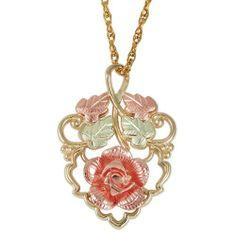"Black Hills Gold Pink Rose Necklace Black Hills Gold,http://www.amazon.com/dp/B00EPQ2URQ/ref=cm_sw_r_pi_dp_WQq7sb1VDRNN6RWG .93"" $143"