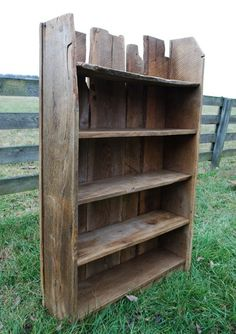 Old boards make a book shelf!