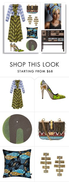 """""""Africa - by Alvufashionstyle"""" by alvufashionstyle on Polyvore featuring moda, Duro Olowu, Lena Hoschek, Valentino e House of Harlow 1960"""