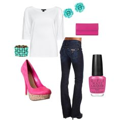 Pink! It was love at first sight, created by pattimar on Polyvore