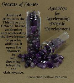 Secrets of Stones - Amethyst für Accelerating Psychische Entwicklung - Crystal Healing - Amethyst . Weitere Folge www.pinterest.com/ninayay und bleiben positiv #pinspired #pinspire @ninayay