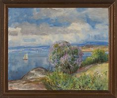 THOROLF HOLMBOE NORDLAND 1866 - OSLO 1935  Ingierdstrand Olje på plate, 51x62 cm Signert nede til venstre: ThHolmboe