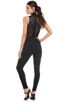 Black Love To Lace Jumpsuit | windsor