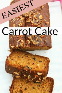 Easy,quick and moist carrot cake recipe. This homemade carrot cake is one of the best egg free cakes you must have eaten! Easy,quick and moist carrot cake recipe. This homemade carrot cake is one of the best egg free cakes you must have eaten! Egg Free Carrot Cake, Whole Wheat Carrot Cake, Eggless Carrot Cake, Egg Free Cakes, Homemade Carrot Cake, Easy Carrot Cake, Moist Carrot Cakes, Homemade Cake Recipes, Eggless Recipes