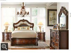 Cortinella Cherry Pc Queen Panel Bedroom Find