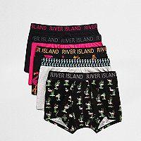 Pack of five Flamingo print RI branded waistband