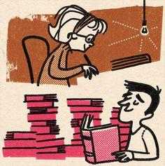 Adam Nickel in 60s illustration