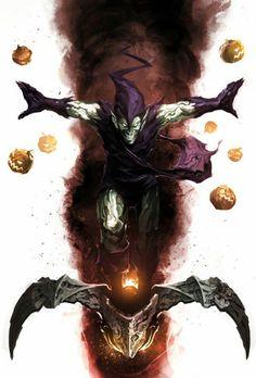 "spyrale: ""Green Goblin by naratani "" Comic Book Villains, Marvel Villains, Marvel Comics Art, Comic Book Characters, Marvel Characters, Marvel Heroes, Comic Character, Comic Books Art, Comic Art"