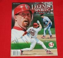 $9.99 - MARK McGWIRE ST. LOUIS CARDINALS BASEBALL LEGENDS TRIBUTE WITH GOLD FOIL CARDS INSIDE free shipping!  Exact item as shown for sale, mailed First Class in a padded envelope!  FREE SHIPPING!