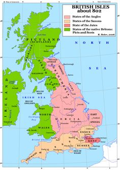 Mercia England Map.Map Of Anglo Saxon Enland Northumbria Mercia Wessex Genealogy