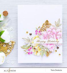 Altenew July Inspiration Challenge - Wedding Season! Happy Wedding Card using…