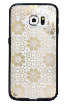 Women's Sonix 'Clear Floral' Samsung Galaxy S6 Edge Case - Metallic