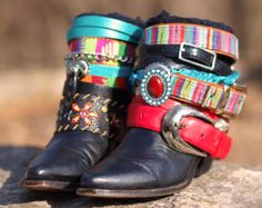 upcycled reworked cowboy boots from TheLookFactory on Etsy
