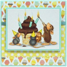 Mice Wishes Perfectly Clear Rubber Stamps