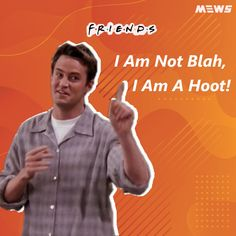 Collection of Chandler Bing or Matthew Perry's dialogues that will refresh you for sure. Click on image to read the whole article. Matthew Perry, Chandler Bing, One Liner, Sarcasm, Legends, Happy Birthday, Good Things, Entertaining, Reading