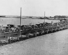 Heavy traffic on the Jubilee Bridge, Gold Coast, 1933 by State Library of Queensland, Australia