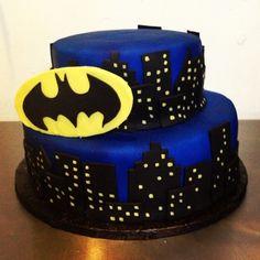 1st cake of 2013! batman birthday cake, by Tweet's Cakery