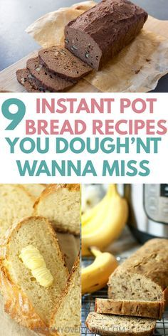 Best INSTANT POT BREAD recipes for the instant pot duo or lux! Bread in an electric pressure cooker is fast easy and perfect for busy families! Learn how to make healthy gluten free low carb paleo or keto friendly or vegan dough. Sourdough no knead Crock Pot Recipes, Bread Recipes, Cooking Recipes, Cooking Bread, Keto Recipes, Chicken Recipes, Cooking Dishes, Dishes Recipes, Healthy Recipes