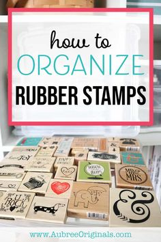 Are you struggling to gain control of your growing rubber stamp collection? Check out this list of things to consider when storing rubber stamps and then find the best wood-mounted rubber stamp storage solution for your needs!