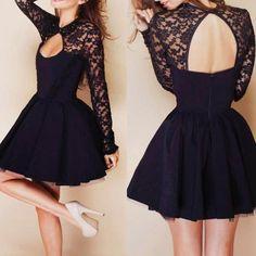 Halter Stitching Lace Dress <3