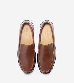 54899c5a174 Cole Haan Santa Barbara Twin Gore Loafer - Harvest Brown Leather 9 M Medium  Dark Roast