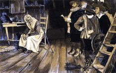The Witch Hunt  by Henry Ossawa Tanner  (June 21, 1859 – May 25, 1937)  http://www.the-athenaeum.org/art/full.php?ID=45439