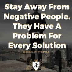 Success Breeds Success. Be conscious of who you hang around. Even if you can't tell negative people are toxifying you and your subconscious.