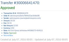 I WORK FROM HOME less than 10 minutes and I manage to cover my LOW SALARY INCOME. If you are a PASSIVE INCOME SEEKER, then AdClickXpress (Ad Click Xpress) is the best ONLINE OPPORTUNITY for you. My withdrawal shows that it's NOT A SCAM