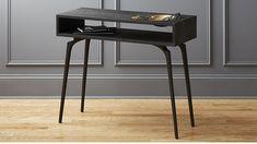 Unwind Black Console Table | CB2