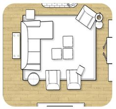 blueprint furniture arrangement idea