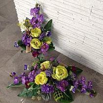 Stroiki Grave Flowers, Cemetery Flowers, Funeral Flowers, Modern Floral Arrangements, Funeral Flower Arrangements, Christmas Flower Decorations, Christmas Wreaths, Fall Flowers, Diy Flowers