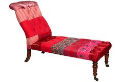 Reupholstered Vintage Doctor's Couch >> WOW! Fantastic piece!