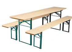 RUKU German beer garden biergarten style folding wood table and