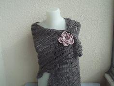 CROCHET SHAWL SCARVES wrap shawl tringuar shawl by nilsmake